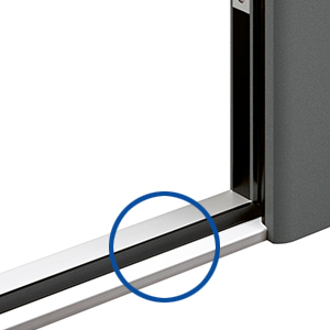 Door sill on Groke aluminium front doors