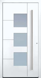 Door model with geometric shapes from the Eleganz series in white