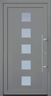 Classic door model from the Ideal series in grey aluminium