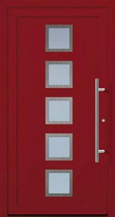 Door model with red colour accent from the Ideal series